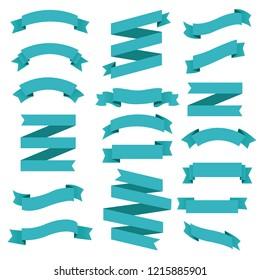Big Set Ribbons , Vector Illustration