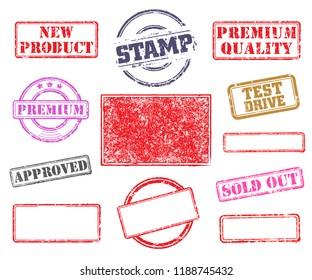 Big set of rubber stamps. Vector illustration