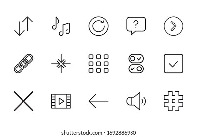 Big set of sign line icons. Vector illustration isolated on a white background. Premium quality symbols. Stroke vector icons for concept or sign graphics. Simple thin line signs.