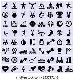 Big set of sport icons