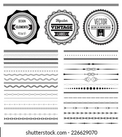 Big set of vector dividers for web design or vector brushes, eps 10