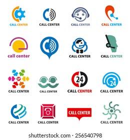 call center logo images stock photos vectors shutterstock https www shutterstock com image vector big set vector logos call center 256540798
