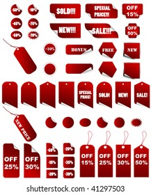Big set of vector price tags that you can use it in all time season.