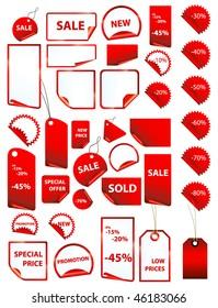 big set of vector price tags - big variety