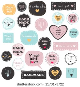 Big set of vector tags and badges with words and phrases. Perfect for your business.