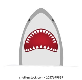 big shark on a white isolated background