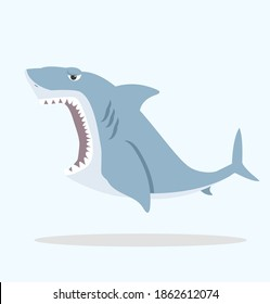 Big shark with open mouth vector