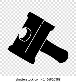 Big sledgehammer icon. Simple illustration of big sledgehammer vector icon for web