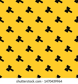 Big sledgehammer pattern seamless vector repeat geometric yellow for any design