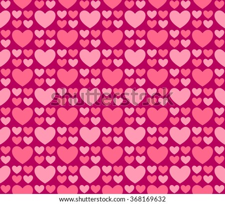 Big Small Hearts Wallpaper Vector Seamless Stock Vector Royalty