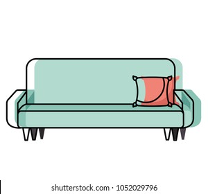 big sofa with cushion comfort furniture