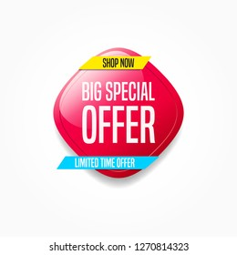 Big Special Offer Shop Now Label