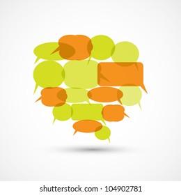 Big Speech Bubble from Smaller Speech Bubbles