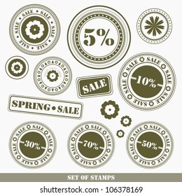 Big spring sale rubber stamp
