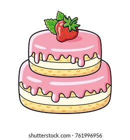 cartoon cake images stock photos vectors shutterstock rh shutterstock com cartoon cake pictures cake cartoon images png