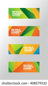 Big summer colorful banner