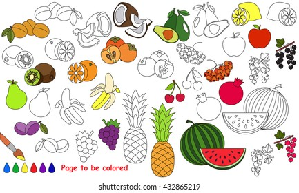 Banana Coloring Pages Stock Illustrations, Images & Vectors ...