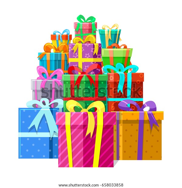 Big Surprise Vector Illustration Gifts Presents Stock Vector Royalty Free 658033858