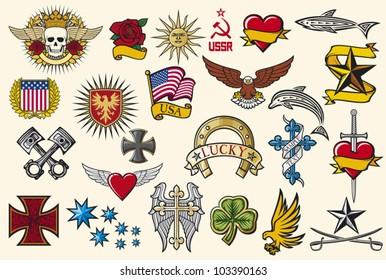 big tattoo collection (set of symbols)