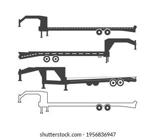 Big Tex Trailers Vector and Flatbed trailer, Flatbed Gooseneck Trailer