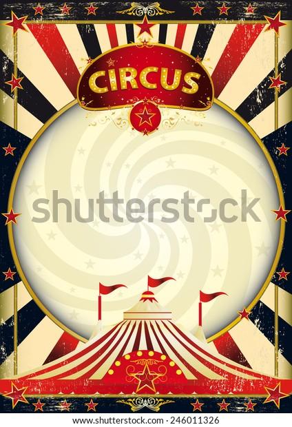 affiche de cirque aux rayons de soleil géants. Arrière-plan cirque vintage avec texture pour votre divertissement