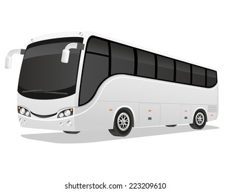 big tour bus vector illustration isolated on white background