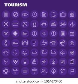 Big tourism icon set