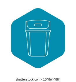 Big trashcan icon. Outline illustration of big trashcan vector icon for web