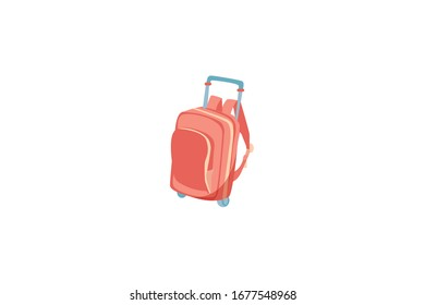 Big Traveling Equipment Vector Illustration Object