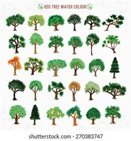 Big tree design, water color concept