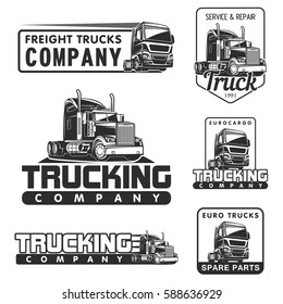 big truck car logo illustration vector design