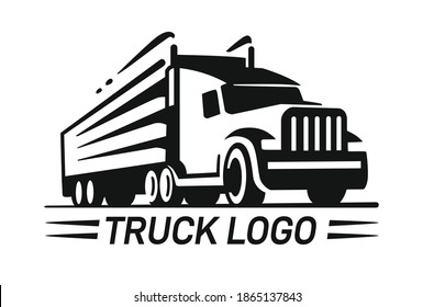 Big Truck logo template for you design in black color