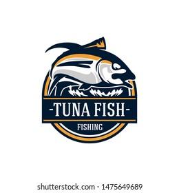 Big Tuna Sport Fishing Badge Logo Template