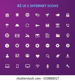 Big UI And Internet icon set