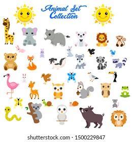 Big vector set of animals