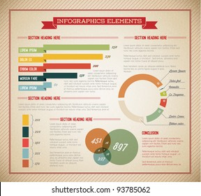 Big Vector set of Infographic elements for your documents and reports (light green version)