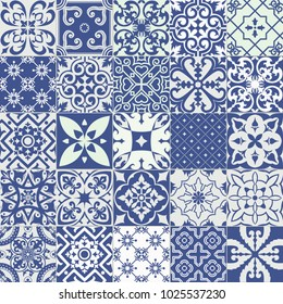 Big vector set of tiles background. For wallpaper, backgrounds, decoration for your design, ceramic, page fill and more.
