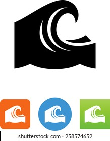 Big wave icon