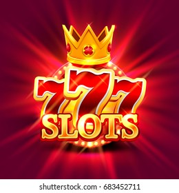 Big win slots 777 banner casino on the green background. Vector illustration
