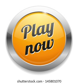 Big yellow play now button