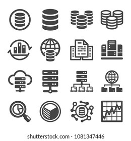 bigdata and data analysis icon set