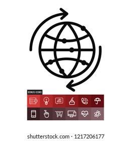 Bigdata vector icon