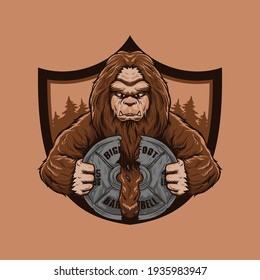 Bigfoot Barells Logo Badge Vector Illustration