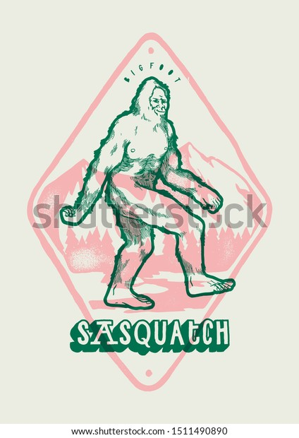 bigfoot-front-mountains-sasquatch-vintag