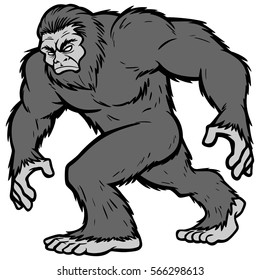 Bigfoot Mascot Illustration