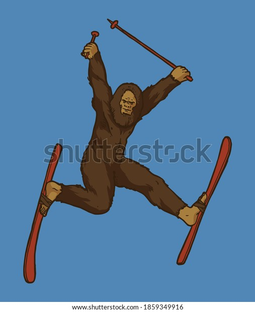 bigfoot-on-skis-funny-sasquatch-600w-185