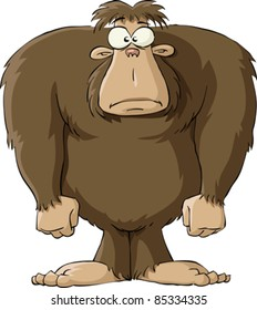 Bigfoot on a white background, vector illustration