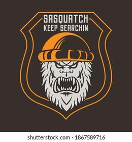 Bigfoot or Sasquatch design. Silhouette symbol design, Vector