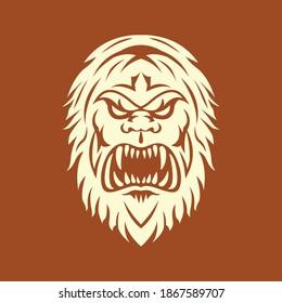 Bigfoot or Sasquatch, gorilla design. Silhouette symbol design, Vector