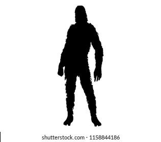 Bigfoot sasquatch silhouette